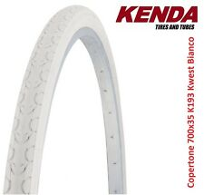 "Copertone KENDA 700x35 28x1-5/8x1-3/8 kwest Bianco per bici 28"" R Viaggio BACC"