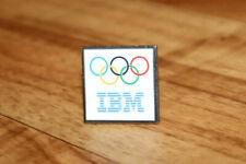 IBM Computer hardware company OLYMPIC Vintage Collectible Rare Promo Pin / Badge