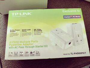 TP-LINK TL-PA500PKIT AV500 Powerline Pass Through Adapters
