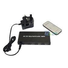 4 Port HDMI1.4 2x2 Switch Hub Splitter AV Switcher 2 in 2 out HD Interface 1080P