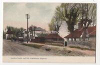 Leather Bottle & Old Almshouses Edgware Vintage Postcard London Middlesex 825b