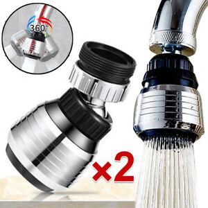 1/2pcs 360 Rotate Kitchen Nozzle Filter Swivel Aerator Water Saving Tap Faucet