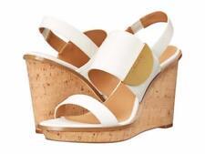Calvin Klein Padma Wedge (899) Platinum White Toscana Leather Size 10M