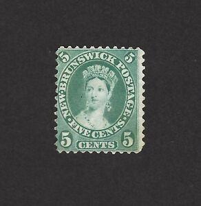 Canada New Brunswick 5c sap green? Unused no gum