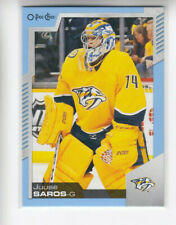 20/21 OPC Nashville Predators Juuse Saros Blue Border card #5