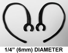 """2 EARHOOK BLUETOOTH EAR HOOK HEADPHONES SMALL CLAMP BLACK 1/4"""" (6mm) DIAMETER"""