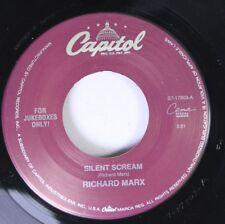 Rock 45 Richard Marx - Silent Scream / Soul Motion On Capital