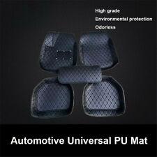 Set All Black Color Car Floor Mats Protector Cover Kit Fit Most Car Model