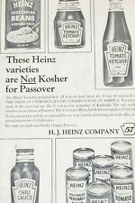 Vintage Heinz 1969 Passover Print Ad Ketchup Soup Beans