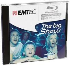 EMTEC BD-R Blu-Ray Disc 25GB 135min 1-6x JEWEL ECOBDR2516JC NEU (world*)008-726