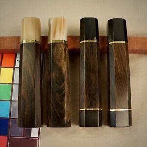 Wa-Handle blank for kitchen knife. Japanese Style. Ebony wood. Art 2.025