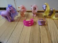 My Little Pony Lot Vintage G1 Peachy Cotton Candy G3 Daisy Jo saddle MLP