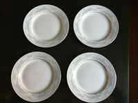 """Somerset by Excel, set of 4 bread plates 6-7/8""""  Blue Flower Band, Blue Ribbons"""