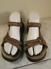 TEVA Ventura Cork Sunbleached Brown Leather Sport Hiking Sandal Shoe Women's 8