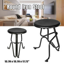 Creative Human Vintage Bar Round Iron Stools Seat Dining Kitchen Pub Chair
