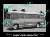 OLD LARGE HISTORIC PHOTO OF WARWICK, INGLEWOOD, GOONDIWINDI PASSENGER BUS 1960s