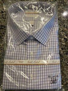 GOLD LABEL ROUNDTREE & YORKE NON-IRON MEN'S 20 - 34/35 Dress SHIRT