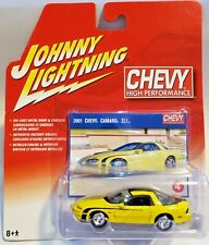 JOHNNY LIGHTNING CHEVY HIGH PERFORMANCE 2001 CHEVY CAMARO ZL1 YELLOW 1:64 SCALE
