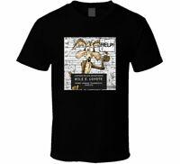 Wile E Coyote Mugshot Cartoon Fan Men's T Shirt Black