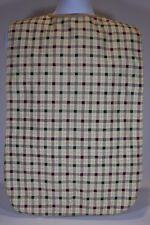 24 Tan Plaid Adult Bib Clothing Protector Washable Elderly Big Eating Waterproof