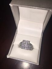 Wedding ring set, size 7, 1 1/3 ct,