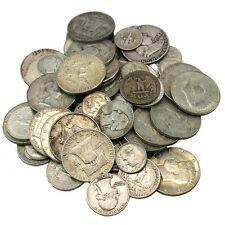 90% Junk Silver US Coins lot of 1/2 oz. Standard Wt.-Pre 1965-No Clad Or Nickles