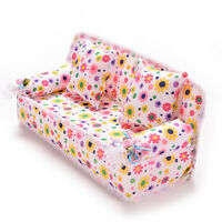 3 Pcs/set Fashion Sofa Couch for s Play House Toy Girls & 2 Cushions   JS