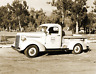 "1939 US Forest Service Pickup Tanker, CA Vintage Old Photo 8.5"" x 11"" Reprint"