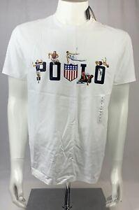 Polo Ralph Lauren Japan Olympics USA Graphic White T-Shirt Size Medium NEW