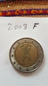 PIECE 2 EURO ALLEMAGNE RARE 2008 F EUROPE SANS FRONTIERE