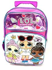 """LOL SURPRISE! Large 16"""" inches Rolling Backpack - New Licensed Product with Tags"""