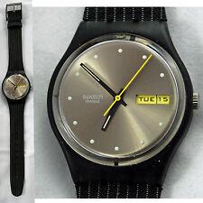 swatch gent gessato gm715 orologio vintage nero raro da collezione black rare