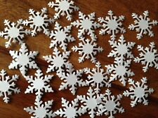 100+ XL FROZEN white blue card 30mm LARGE snowflakes confetti table decorations