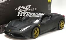 HOT WHEELS ELITE 1:18 ELITE FERRARI 458 SPECIALE DIECAST MATTE BLACK BLY33