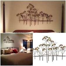 Tree Metal Wall Art Sculptures Home Decor Bedroom Hanging Indoor Modern Tropical