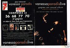 Publicité advertising 1994 (2 pages) Vanessa paradis Live Album