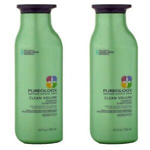 2 PACK! PUREOLOGY CLEAN VOLUME SHAMPOO 8.5 OZ SERIOUS COLOUR CARE VOLUMIZING LOT
