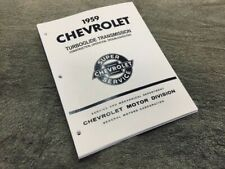 1959 Chevrolet Impala Biscayne Turboglide transmission manual training rare