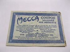 Mecca Coupon The American Tobacco Co Coupon