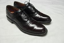 Allen Edmonds Burgundy/Black All-Leather POLO Shell Cordovan Saddle Oxfords 10AA