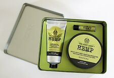 The Body Shop 'Hemp Moisture High' Hand Lotion & Lip Gift Box Set NEW Sealed