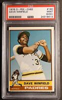 1976 O-PEE-CHEE DAVE WINFIELD #160  PSA MINT 9 OC PADRES  ENLARGE THE SCAN