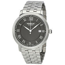 Montblanc Tradition Black Dial Automatic Mens Stainless Steel Watch 116483