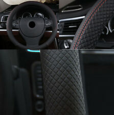 Car Vehicle Steering Wheel Protector Cover For All Seasons Black 38cm PU Leather