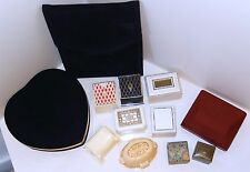 Celluloid Ring Boxes LOT 12 w Black Velvet Necklace Holder HEART & Watch Box