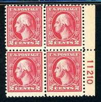 USAstamps Unused FVF US Washington Offset Printing Plate Block Scott 527 OG MNH