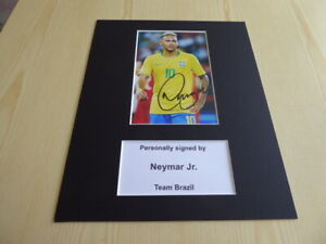 "Neymar Jr. Brazil mounted photograph original autograph mount size 10"" x 8"""