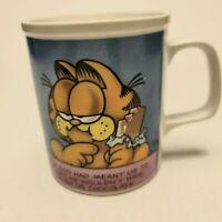 Vintage 1978 Enesco Garfield Coffee Mug Comic Strip Original Ceramic Glass