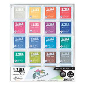 Aladine Izink Set of 20 Pigment Ink Pads - John Lockwood - Seen on TV