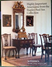 Sothebys HIGHLY IMPORTANT AMERICANA from The Stainley Paul Sax COLLECTION 1998
